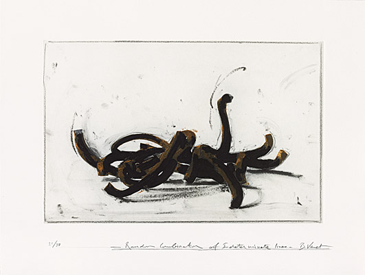"Bernar Venet, ""Random Combination of Indeterminate Lines"""