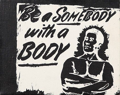 "Andy Warhol, ""Be a Somebody with a Body"", registriert Andy Warhol Art Authentication Board, Inc."
