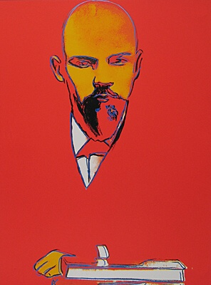 "Andy Warhol, ""Red Lenin"""